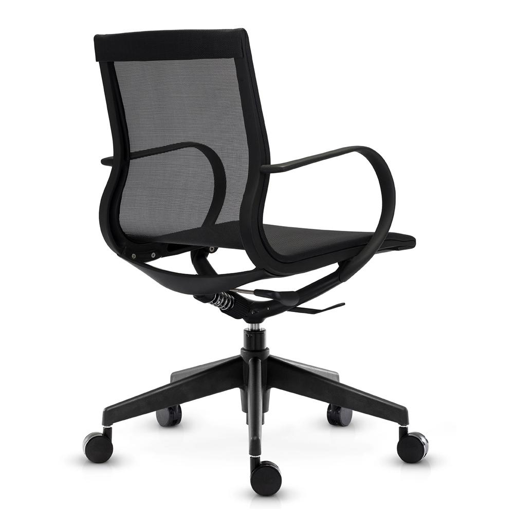 Кресло Mercury LB черная сетка, черный пластик - вид 4