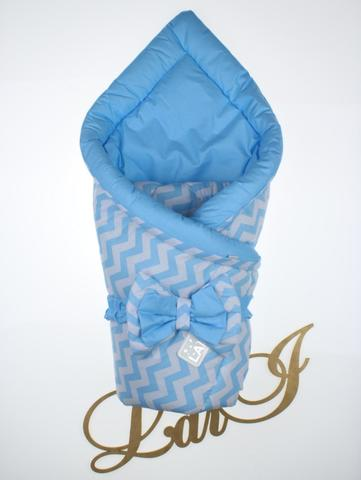Конверт одеяло двустороннее Волна (голубой)