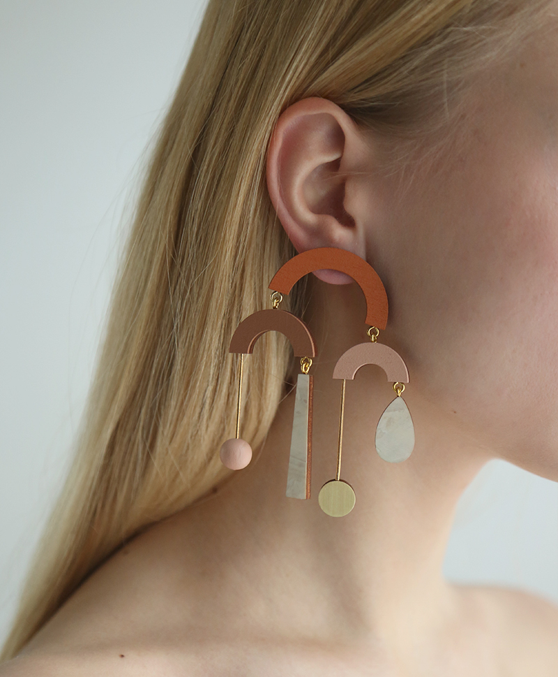Серьги Fountain Earrings Burnt Orange