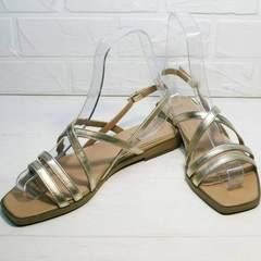 Шлепки сандали женские Wollen M.20237D ZS Gold.