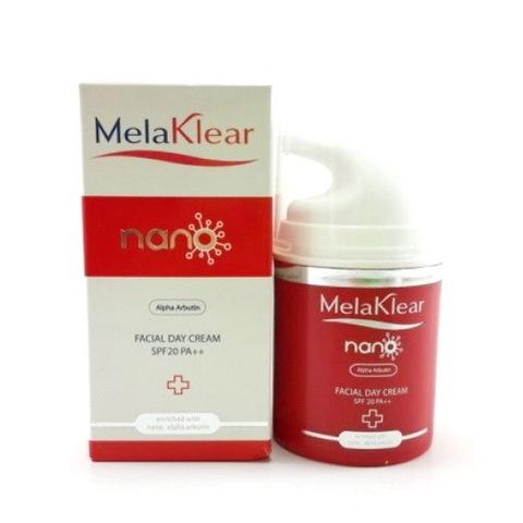 Дневной крем для лица с альфа арбутином от пигментации Melaklear Nano Arbutin Day Cream SPF 20 Mistine (45 мл)