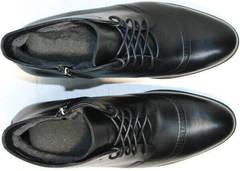 Стильные ботинки зимние мужские натуральная кожа Ikoc 3640-1 Black Leather.