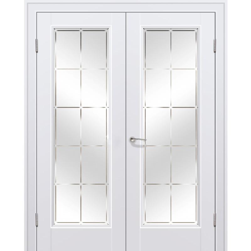 Для гостиной Межкомнатная дверь экошпон Profil Doors 92U аляска распашная двустворчатая остеклённая 92-u-alaska-por-dvertsov.jpg