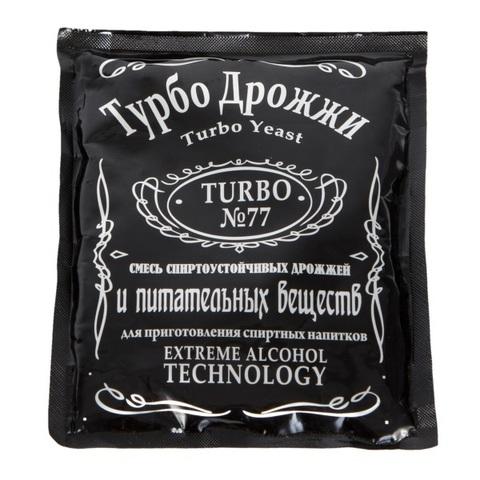 Спиртовые дрожжи Турбо №77, 120 г на 25 л