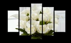 """Модульная картина """"Белые розы"""""""
