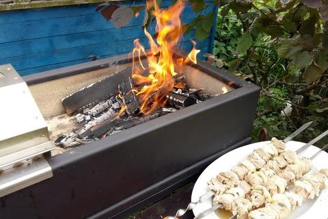 Мангал теплоизолированный Smaga Можно готовить на дровах!