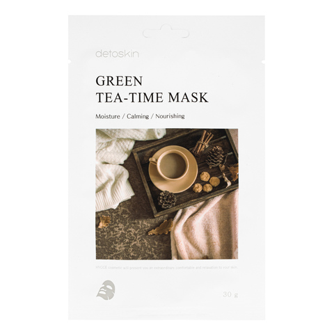 Маска для лица с экстрактом зеленого чая
