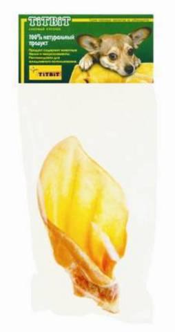 Титбит 0160 Ухо говяжье-1 (мягкая упаковка)  *50