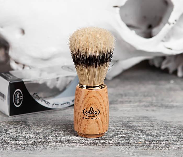 RAZ11150 Помазок из щетины кабана с деревянной ручкой фото 02