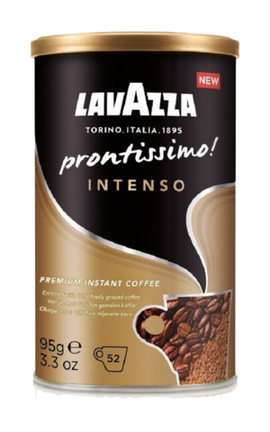 Кофе растворимый Lavazza Prontissimo Intenso с молотым кофе, 95 г