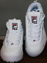 Кроссы женские Fila Disruptor 2 all white RN-91175.