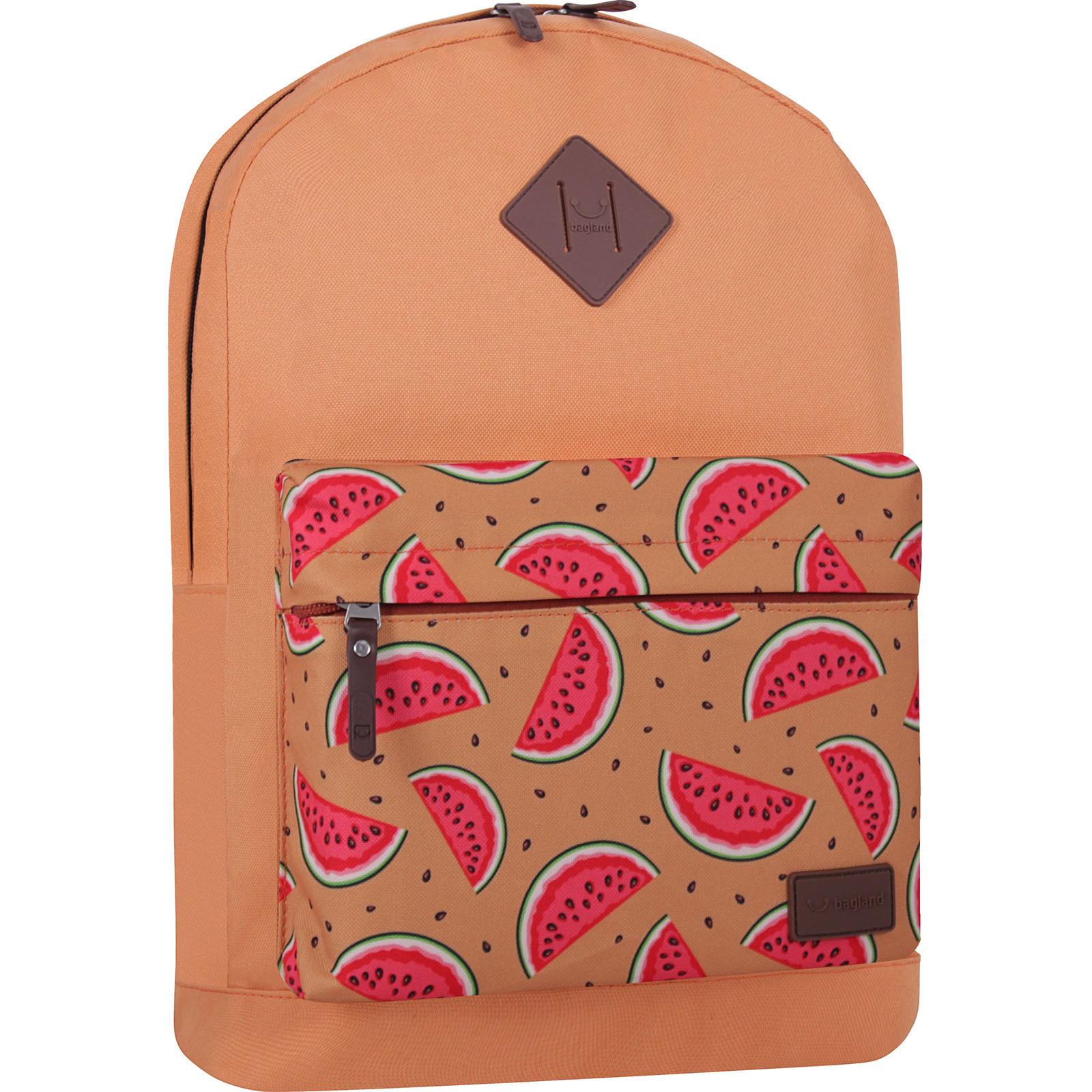 Молодежные рюкзаки Рюкзак Bagland Молодежный W/R 17 л. Рыжий 736 (00533662) IMG_7344_суб736_-1600.jpg