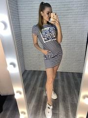 летнее платье-туника купить