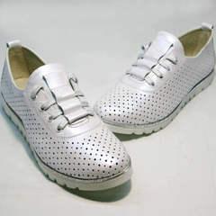 Летние туфли женские 42 размер Mi Lord 2007 White-Pearl.
