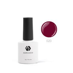 Цветной гель-лак ADRICOCO №020 рубиновый (8 мл.)