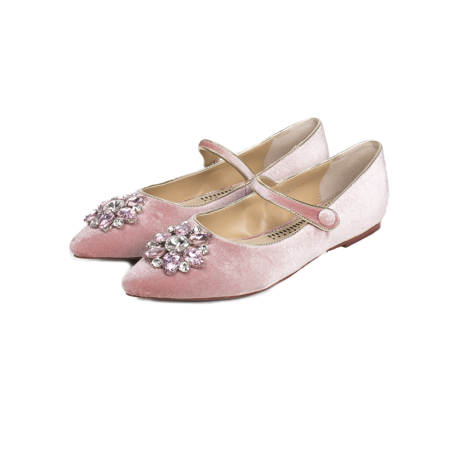 Туфли, Ballerina, Mary Jane (розовый)