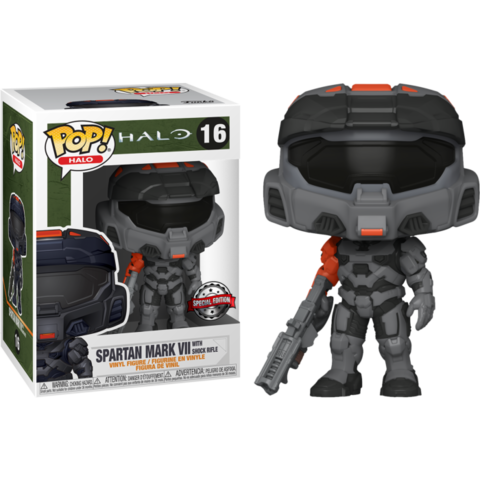 Фигурка Funko Pop! Games: Halo - Spartan Mark VII with Shock Rifle (Excl. to GameStop)