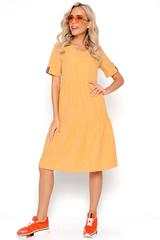 """<p>Платье """"Супер Альба"""" в стиле CASUAL уникальная новинка летнего сезона 2021. Платье с воланами &nbsp;помогает корректировать фигуру, умело скрывая мелкие недостатки и предъявляя достоинства. Воланы делаю Ваш образ милым и непринужденным. (Длины: 46-48=102см; 50-52=103см)</p>"""