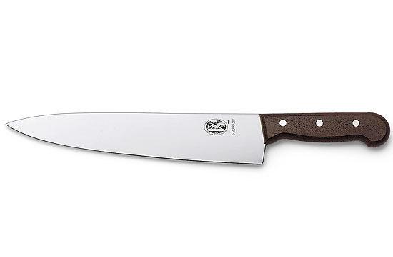 Кухонный разделочный нож Victorinox, лезвие 25 см., деревянная рукоять (5.2000.25G)