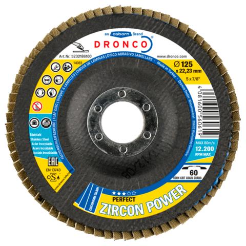 Лепестковый диск Dronco Perfect Zircon Power 40 180 мм