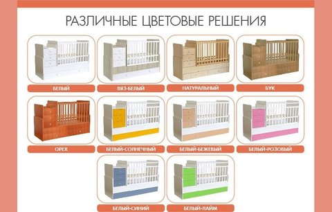 Кроватка детская Polini kids Simple 1100 с комодом, бук