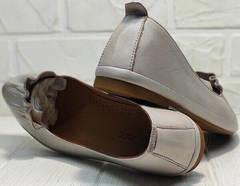 Закрытые балетки туфли кожаные Wollen G036-1-1545-297 Vision.