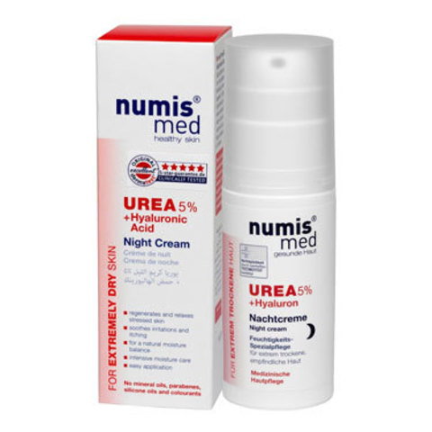 Ночной Крем с 5 % мочевиной и гиалуроновой кислотой Numis Med, 50 мл