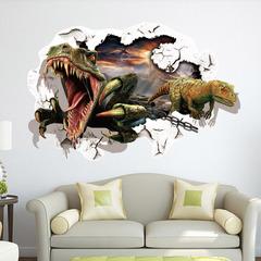 Парк юрского периода 3D наклейка Охота на Динозавров