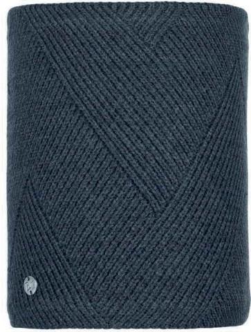 Шарф-труба вязаный с флисом Buff Neckwarmer Knitted Polar Disa Black фото 1