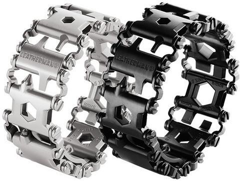 Мультитул-браслет Leatherman Tread Steel представлен в стальном и чёрном цветах   Multitool-Leatherman.Ru