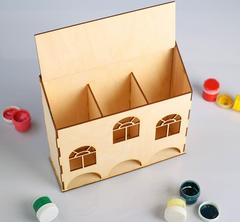 Чайный домик Тройной, 25*8*23 см, деревянный.