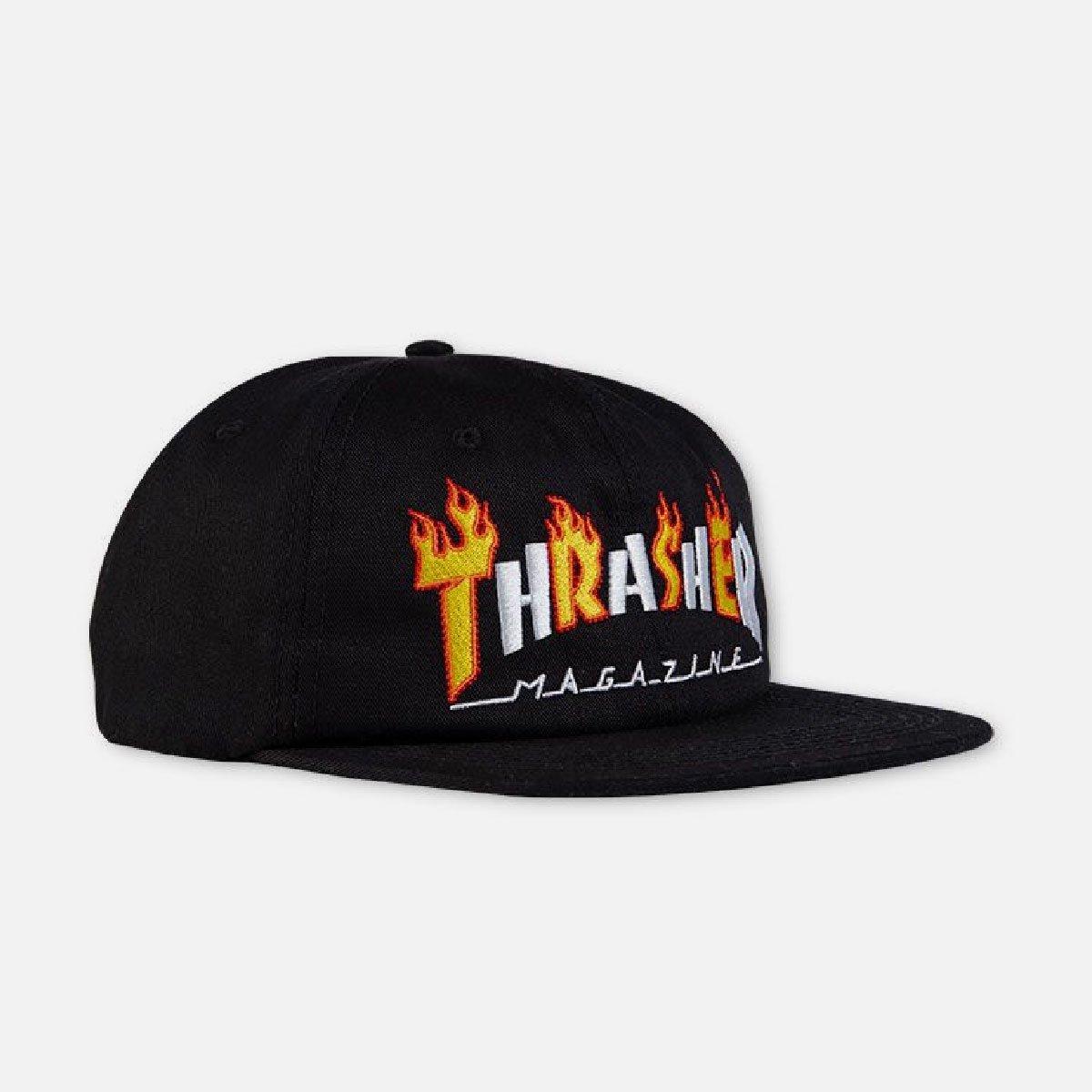 Кепка THRASHER Flame Mag Snapback (Black)