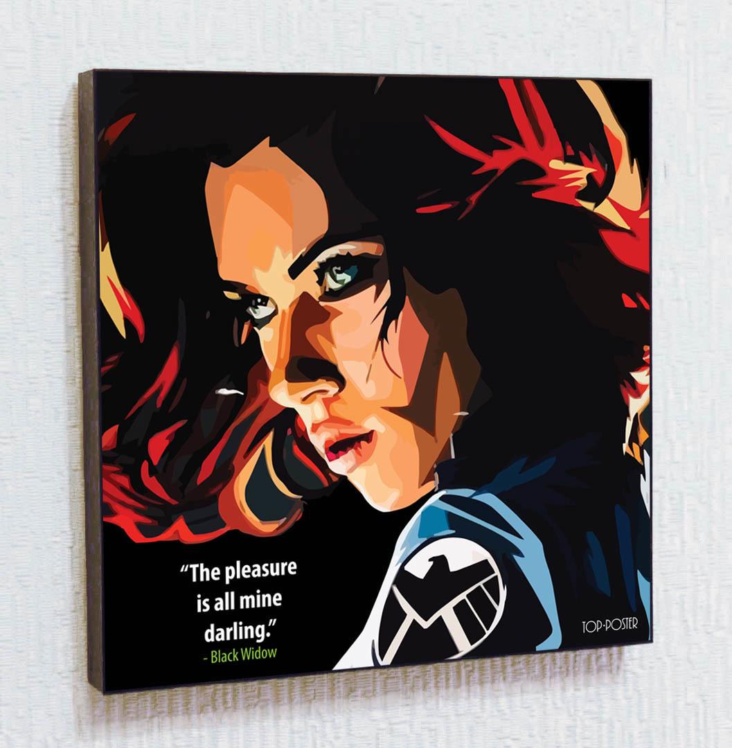 Чёрная вдова Картина ПОП-АРТ портрет постер
