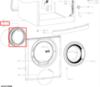 Манжета люка (уплотнитель двери) для стиральной машины Whirlpool (Вирпул) 481010741514