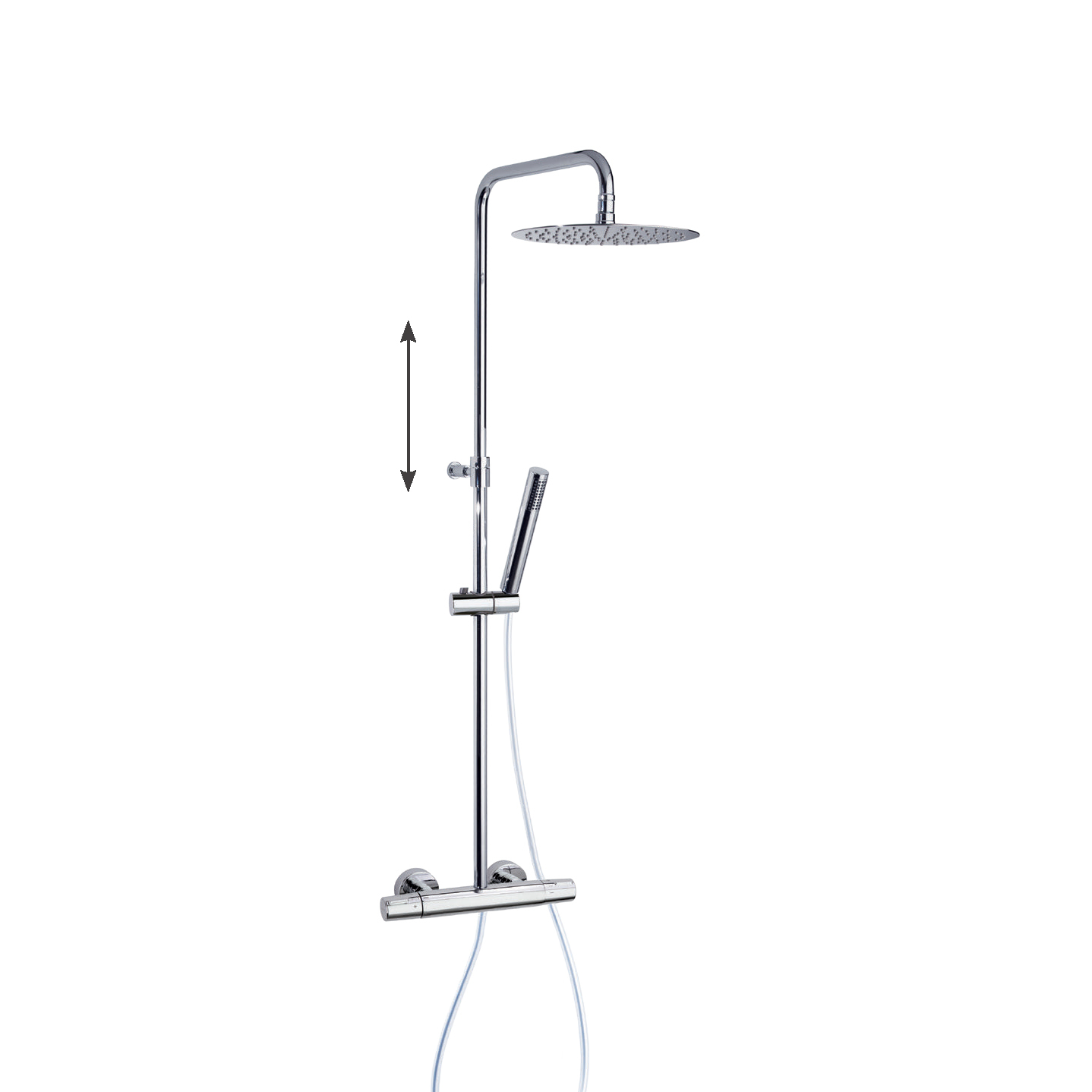 Душевая система с термостатом и тропическим душем для ванны TZAR 345401RM300