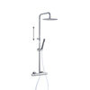 Душевая система с термостатом и тропическим душем для ванны TZAR 345401RM300 - фото №1