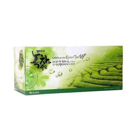 Салфетки для лица с экстрактом зеленого чая 210 шт