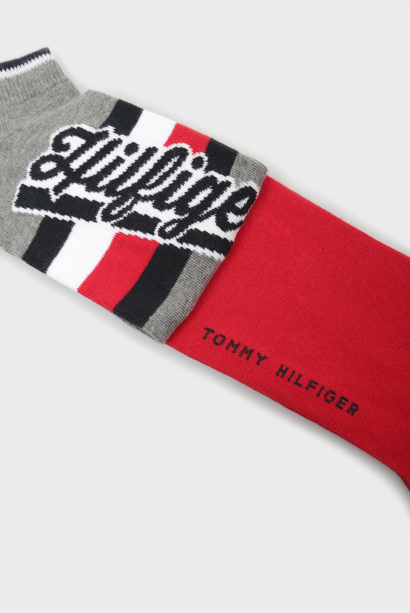 Мужские серые носки TH MEN HILFIGER SNEAKER (2 пары) Tommy Hilfiger