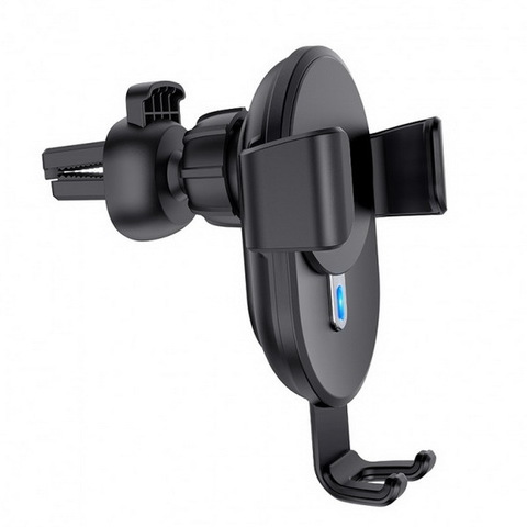 Автодержатель with Wireless Charger HOCO CW25, (10W, 2.4A), black