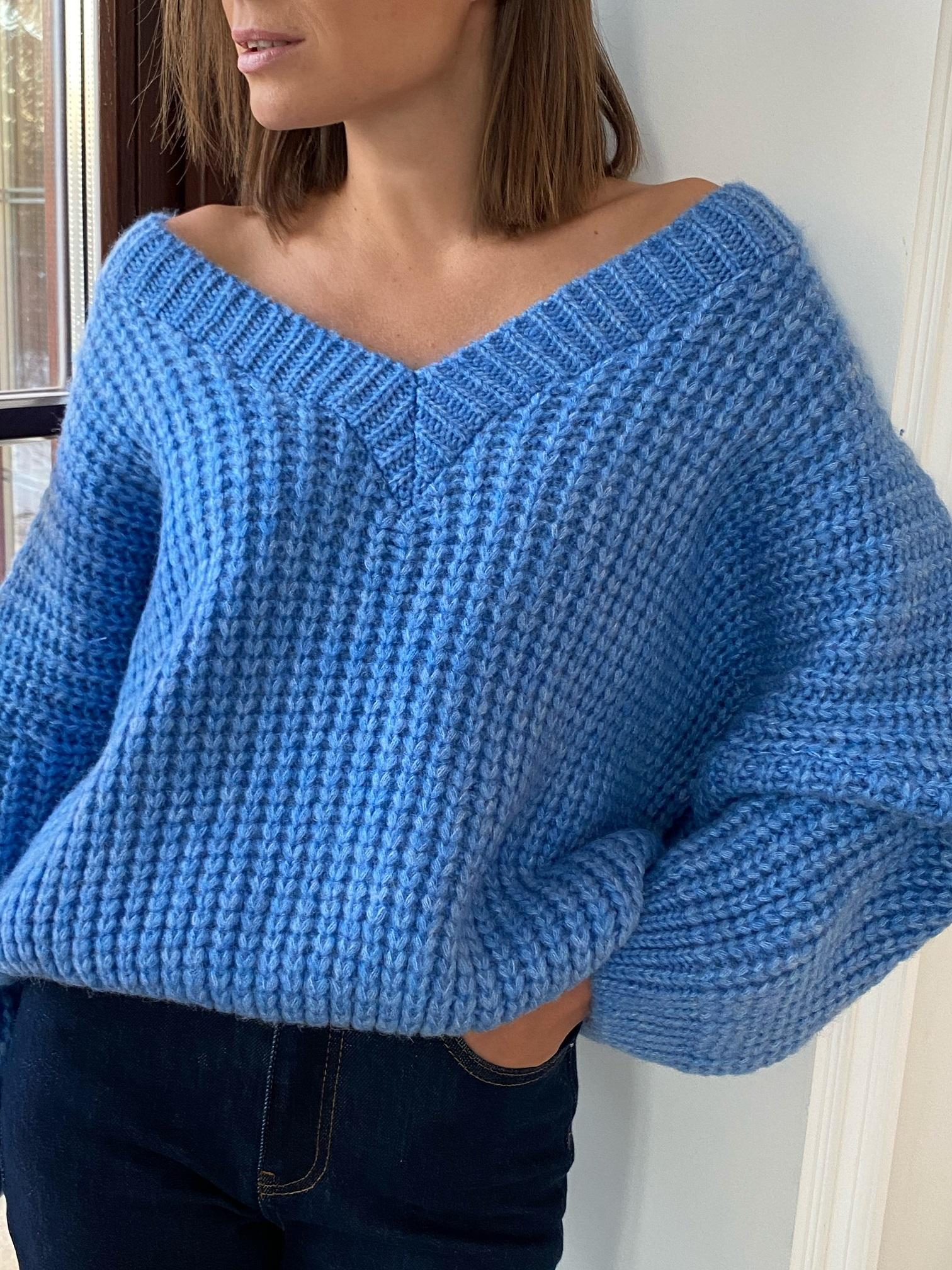 Пуловер, Pola, Twiggy (синий)
