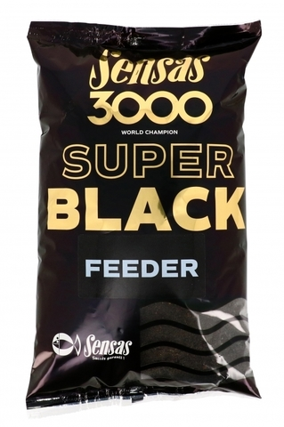 Прикормка Sensas 3000 Super BLACK Feeder 1кг