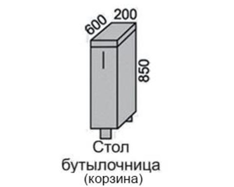 Стол МАРТА с корзиной НШ 20