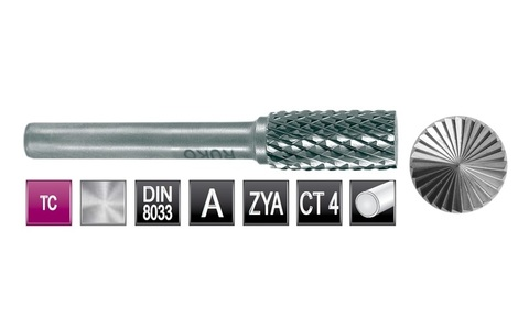 Бор-фреза твердосплавная B(ZYAS) 10,0х20х6х60мм HM Ruko 116017