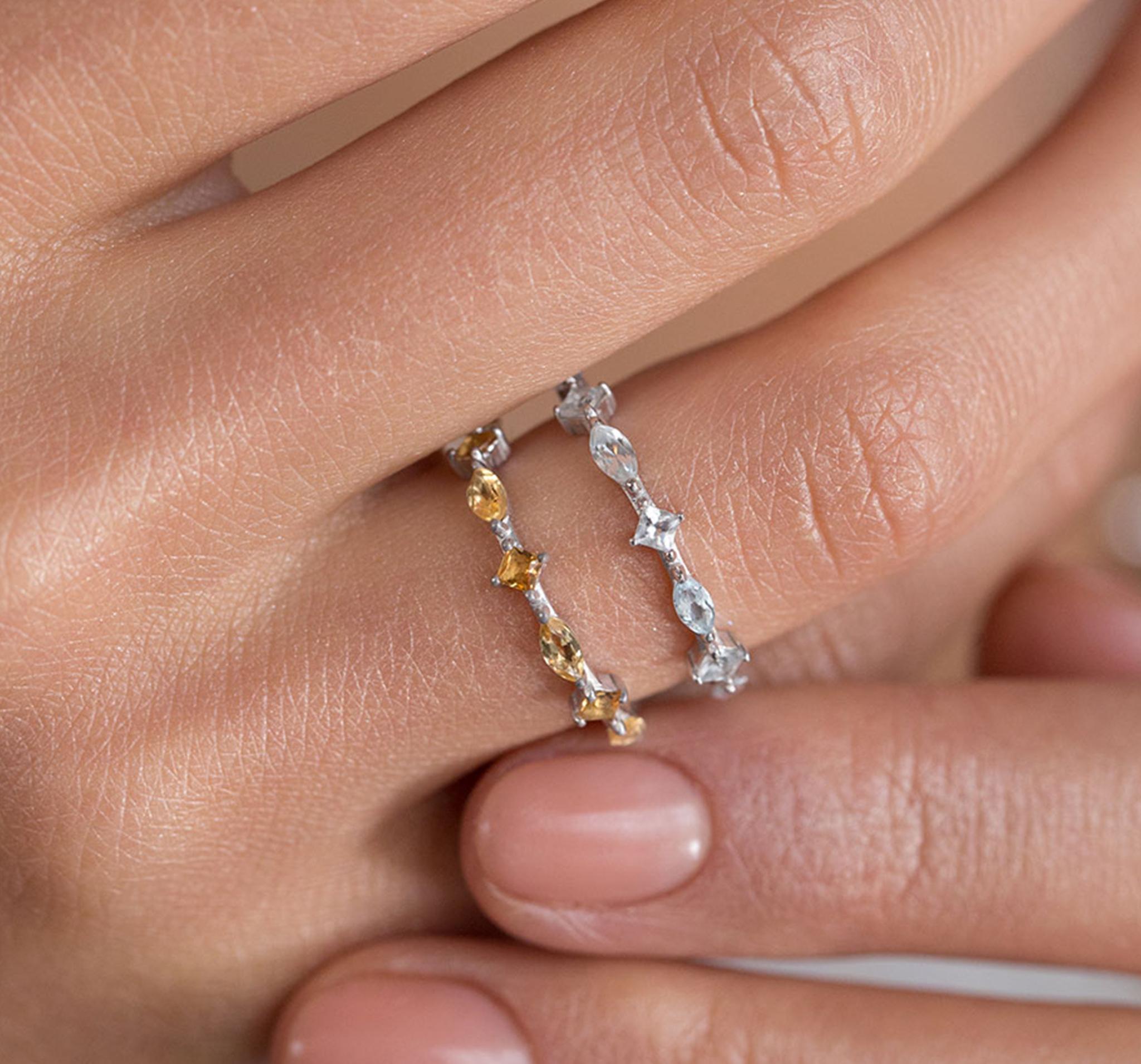 Кружевное кольцо с цитринами от SECRETS