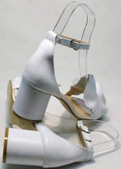 Мягкие сандалии удобные босоножки на каблуке Ari Andano K-0100 White