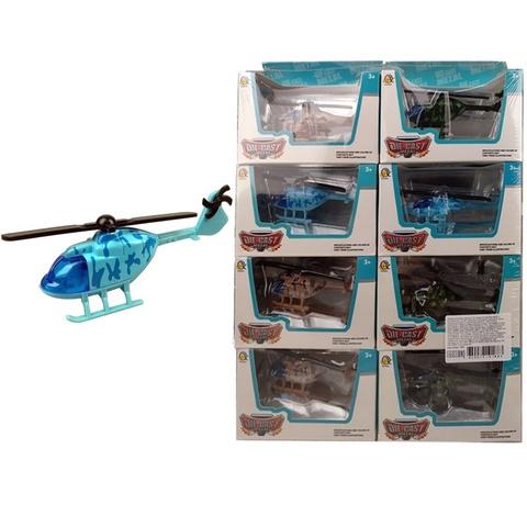 Вертолет DIE CAST METAL в ассортименте, 1кор*54бл*8шт