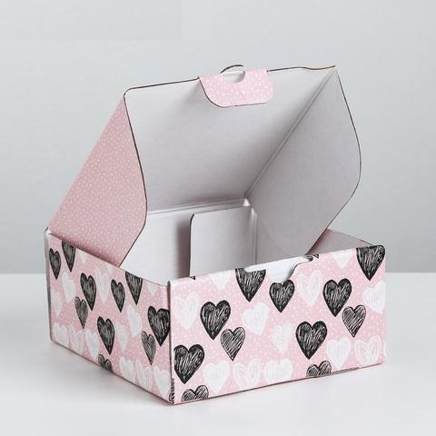 Коробка складная Любимке, 15 × 15 × 7 см