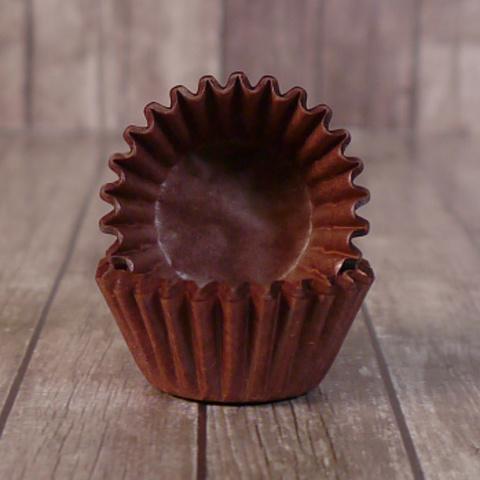 Капсулы бумажные для конфет 30*23 мм коричневые, 100 шт.