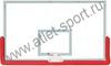 Щит баскетбольный профессиональный, закаленное стекло 10 мм, металлическая рама, протектор нижней части щита, р-р 1800х1050мм. (FIBA approved).