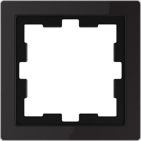 Рамка на 1 пост. Цвет Чёрный оникс. Merten. D-Life System Design. MTN4010-6503